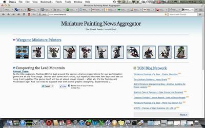 Revised miniature painting news aggregator